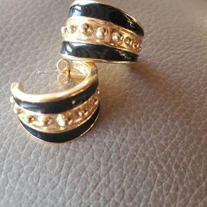 Monet vintage pierced earrings